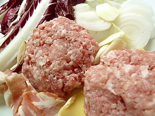 Salsiccia-Burger mit Radicchio Trevisano