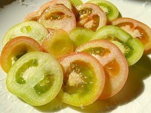 Grüne und fast reife Tomaten