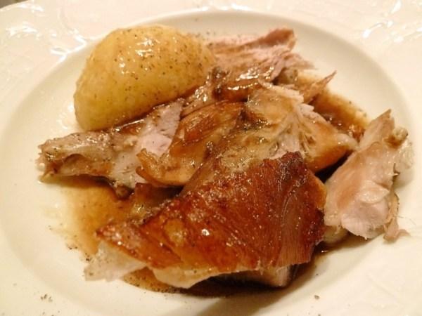 Mit Kartoffelknödel