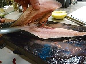 wo Claus die Makrelen filetierte