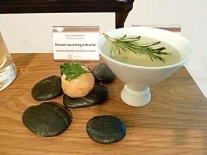 Senfsoße mit King-Crab Salat