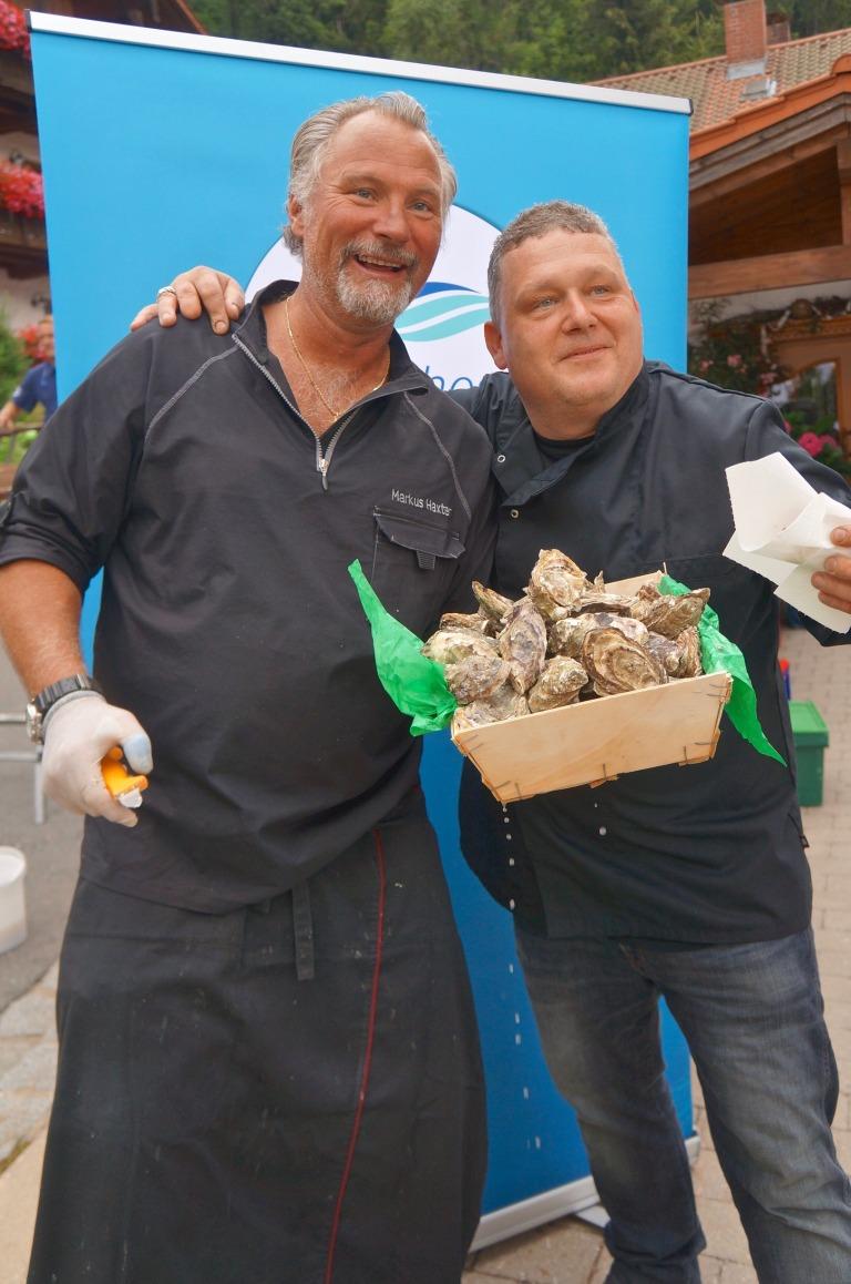 Markus Haxter Cuisine Concept Austern mit Limetten-Crème fraiche (bei mir ohne...)