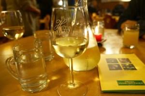 offenen Wein gab's auch noch dazu