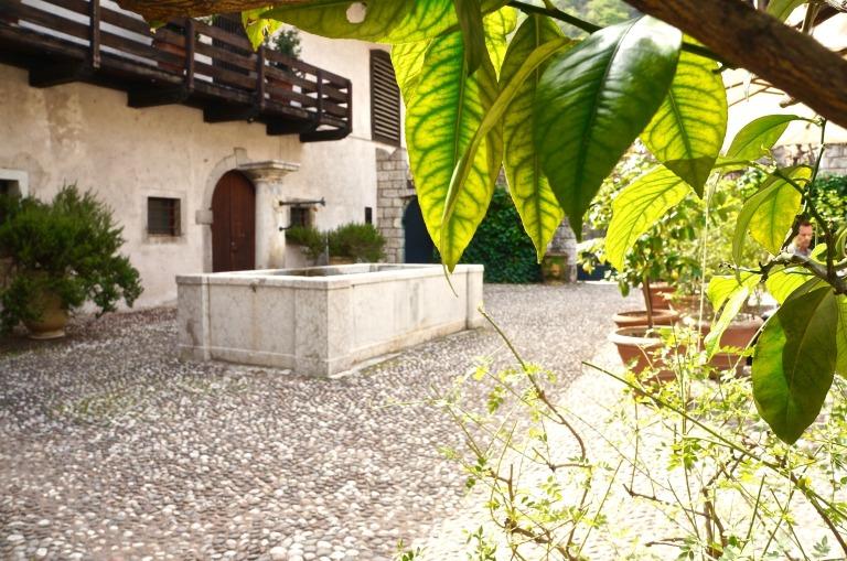 Der idyllische Innenhof