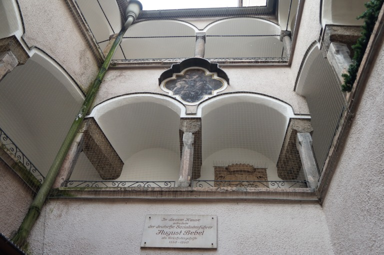 hier wohnte August Bebel