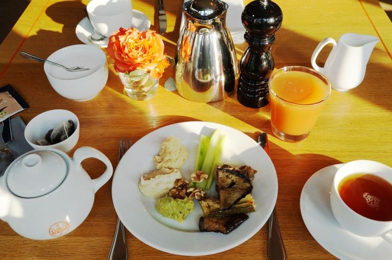 Frühstück am nächsten Morgen