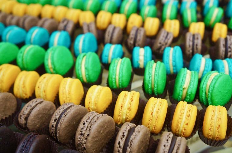 bunte Macarons