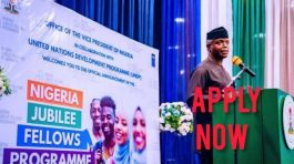 FG Opens Portal for Nigeria Jubilee Fellows Programme ( https://njfp.ng/ ) Recruitment (N80,000 Monthly Stipends). Apply Now