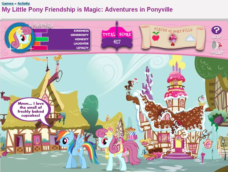 Adventures In Ponyville, Cupcake, Game, Oc