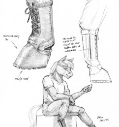 1023262 anthro artist baron engel big macintosh clothes diagram grayscale monochrome pencil drawing safe shoes solo traditional art  [ 950 x 1224 Pixel ]