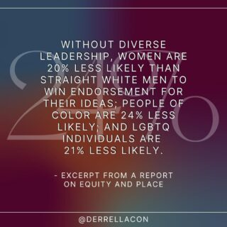 """The most powerful way to ensure representation is by bringing more individuals from marginalized backgrounds into leadership positions. """"Without diverse leadership, women are 20% less likely than straight white men to win endorsement for their ideas; people of color are 24% less likely; and LGBTQ individuals are 21% less likely ... A team with a member who shares a client's ethnicity is 152% likelier than another team to understand that client."""" (From my Report on Equity and Place)   What are some other effective ways to radically promote representation and inclusion?   #inclusion #diversity #inclusionmatters #diversitymatters #diversityandinclusion #accessibility #representationmatters #blackvoicesmatter #blackvoicesheard #operareports #operasingersofinstagram"""