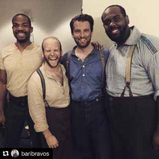 Great behind the stage photo from @baribravos. These wonderful men and I are posing after my most recent show in Chicago, Moby Dick. ・・・ Already miss seeing these guys on such a regular basis. Thrilled to have finally made my COT debut with so many great friends! It really is the people that make the business worthwhile... Bravi tutti again to all involved on this massive undertaking 🐳 . . . . #chicagooperatheater #mobydick #whaling #lawrenceuniversity #chicago #reunion #paris #music #instaclassical #operasingers #musik #instaopera #classicalmusic #ópera #newyork #stage #fashion #soprano #glamour #photography #picoftheday #London #Paris #bassbaritone