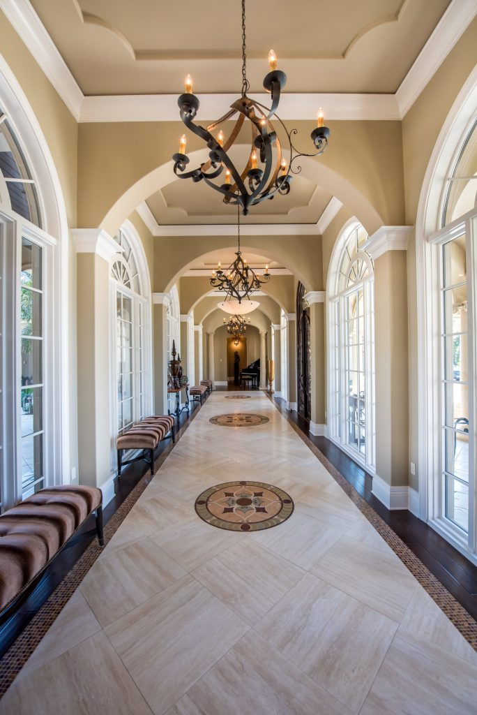 Italianate Design Grand Hallway Derrick Builders
