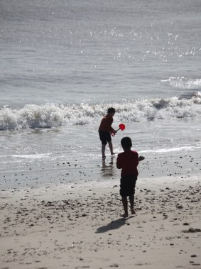 Boys on beach 1