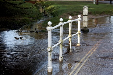 Railings over ford