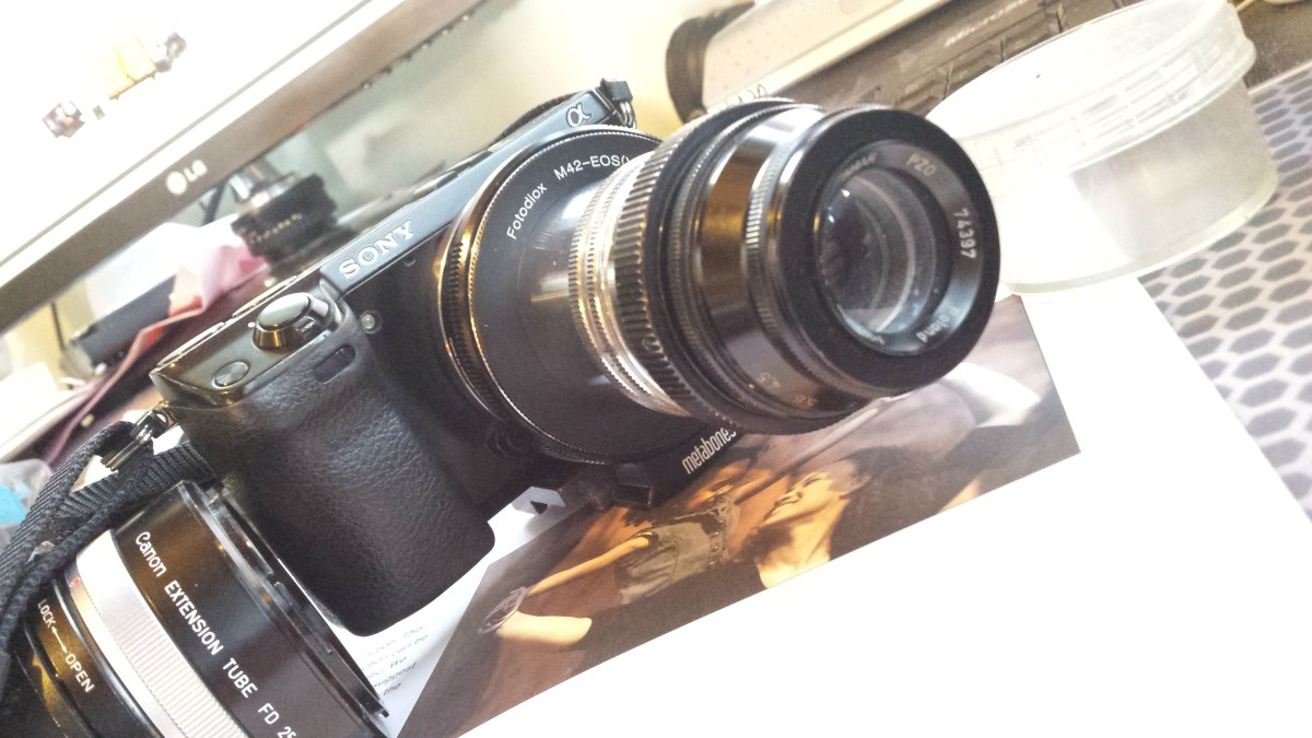 Poland PZO AMAR lens 105mm f/4,5 on a SONY NEX-7