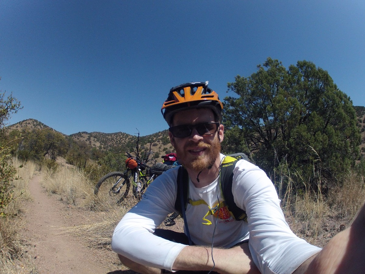 Derrick Perrin Selfi on the Arizona Trail