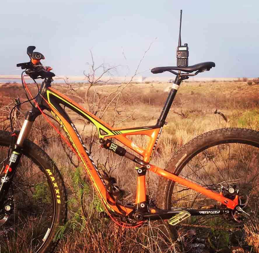Mountain Bike and a Ham Radio