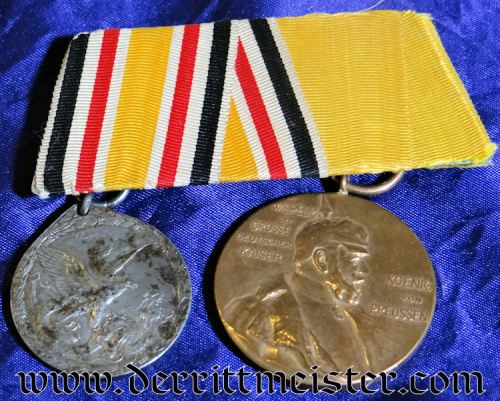CHINA COLONIAL - MEDAL BAR - TWO PLACE - CHINESE BOXER REBELLION'S NON COMBATANT - Imperial German Military Antiques Sale