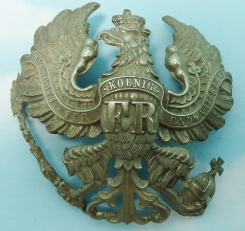 WAPPEN - PRUSSIA - FOR PICKELHAUBE - ENLISTED MAN/NCO - PIONIER-Bataillon - PRE WW I - Imperial German Military Antiques Sale