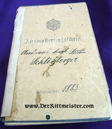 MILITÄRPAß - INFANTERIE-REGIMENT Nr 167 - Imperial German Military Antiques Sale