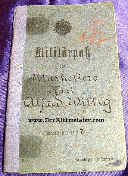 MILITÄRPAß - INFANTERIE-REGIMENT Nr 58 - Imperial German Military Antiques Sale