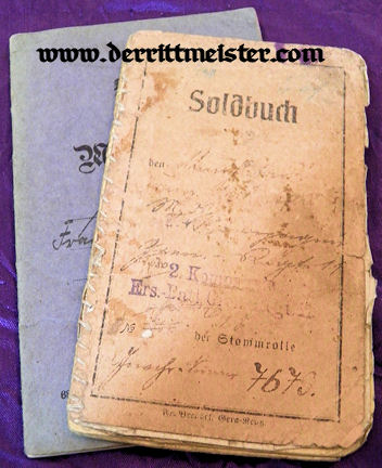 MILITÄRPAß - SOLDBUCH - INFANTERIE-REGIMENT Nr 95 - WW I - Imperial German Military Antiques Sale