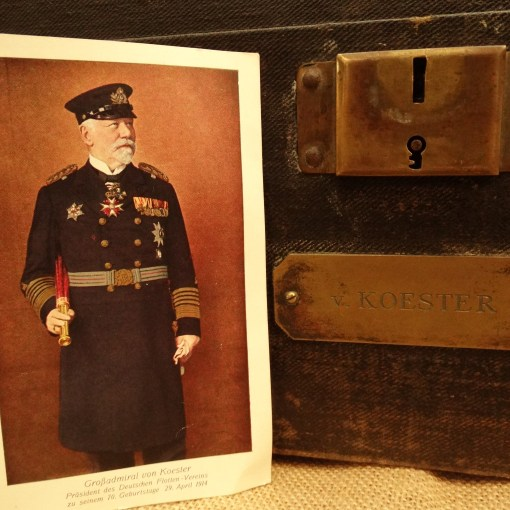 PRUSSIA - GROUPING - GROßADMIRAL HANS von KOESTER'S PERSONAL EFFECTS GROUP - INCLUDING EPAULETTES/FORE AND AFT CAP/ETC - Imperial German Military Antiques Sale