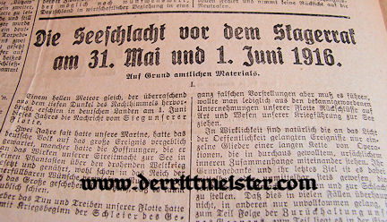 NEWSPAPER ANNOUNCEMENT - OSWALD BOELCKE'S 19th AERIAL VICTORY - Imperial German Military Antiques Sale
