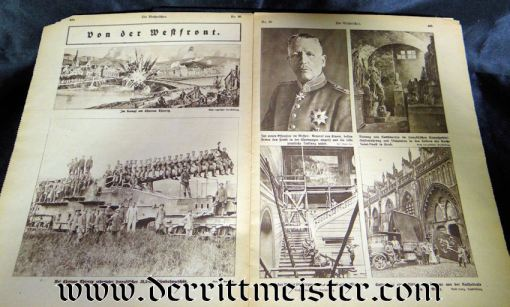 DIE WOCHENSCHAU 27 JULY 1918 - Imperial German Military Antiques Sale