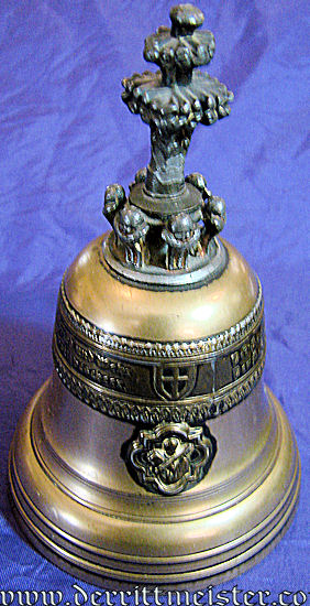 KAISER WILHELM II BELL & STAND - Imperial German Military Antiques Sale