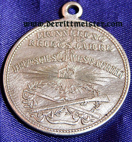 SOUTHWEST AFRICA COLONIAL - VETERAN'S MEDAL FOR SERVICE - Imperial German Military Antiques Sale