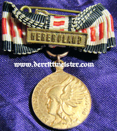 SOUTHWEST AFRICA COLONIAL - MINIATURE - COMBATANT MEDAL WITH SPANGE - Imperial German Military Antiques Sale
