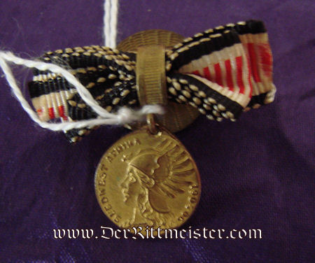 SOUTHWEST AFRICA COLONIAL - BOUTONNIERE - COMBATANT'S MEDAL -  DENKMÜNZE - MINIATURE - Imperial German Military Antiques Sale