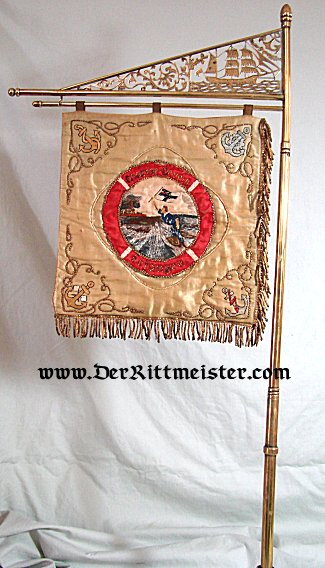 GERMANY - BANNER - NAVY VETERAN ASSOCIATION - Imperial German Military Antiques Sale