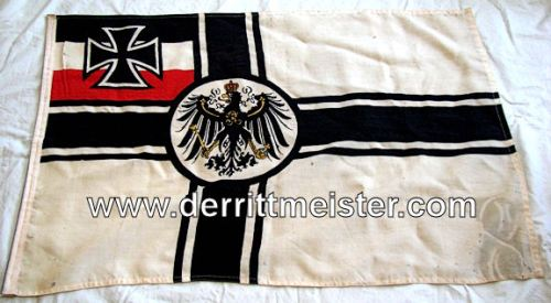 GERMANY - FLAG - KRIEGSFLAGGE - Imperial German Military Antiques Sale