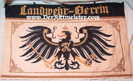 PRUSSIA - BANNER - LANDWEHR-VEREIN - Imperial German Military Antiques Sale