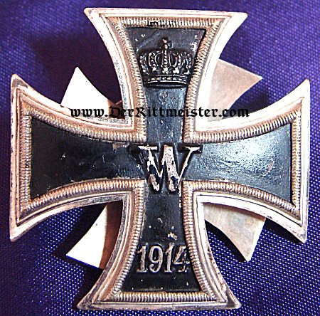 IRON CROSS - 1914 - 1st CLASS THREE- PIECE SCREWBACK - Imperial German Military Antiques Sale