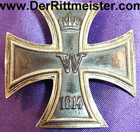 IRON CROSS - 1914 - 1st CLASS - VAULTED - THREE PIECE SCREWBACK
