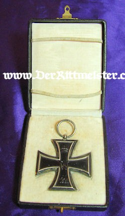 IRON CROSS - 1914 - 2nd CLASS - ORIGINAL PRESENTATION CASE - Imperial German Military Antiques Sale