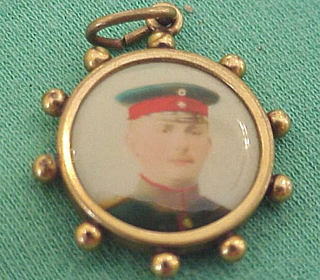 PATRIOTIC PENDANT - COLORIZED PHOTO - Imperial German Military Antiques Sale