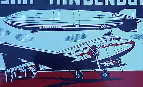 U.S. - PLAQUE - METAL - AIRSHIP HINDENBURG/AMERICAN AIRLINES - Imperial German Military Antiques Sale