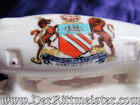 GERMANY - FIGURINE - WW 1 ZEPPELIN - PORCELAIN - Imperial German Military Antiques Sale