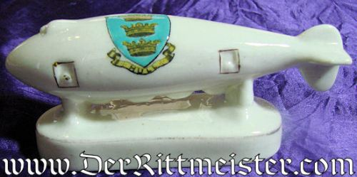 PORCELAIN FIGURINE - WW 1 GERMAN ZEPPELIN - Imperial German Military Antiques Sale