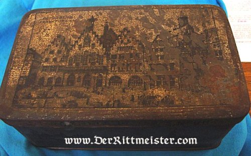 GERMANY - PATRIOTIC BOX - TIN - ZEPPELIN - Imperial German Military Antiques Sale