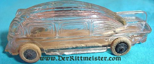 U.S. - FIGURINE - ZEPPELIN AUTOMOBILE OR BUS - GLASS - Imperial German Military Antiques Sale