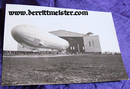 GERMANY - PHOTOGRAPH - ZEPPELIN SACHSEN OUTSIDE - HANGER - Imperial German Military Antiques Sale