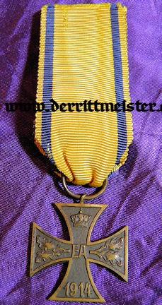BRAUNSCHWEIG - 1914 WAR SERVICE CROSS - 2nd CLASS - NON COMBATANT - Imperial German Military Antiques Sale