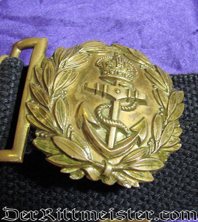 DAILY DUTY NAVY OFFICER'S BELT AND BUCKLE - Imperial German Military Antiques Sale