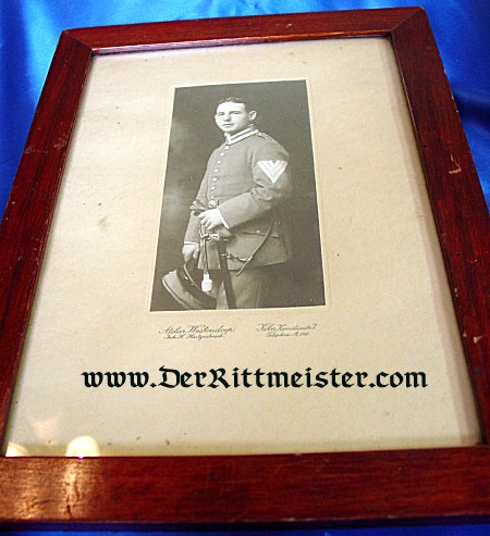 FRAMED STUDIO PORTRAIT - NCO - AVIATION UNIT - Imperial German Military Antiques Sale